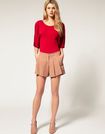 ASOS Collection Asos Short with Pleats - Lyst