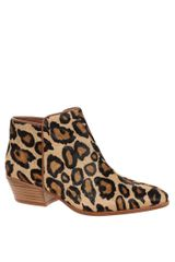 Sam Edelman Petty Leopard Low Heel Boots