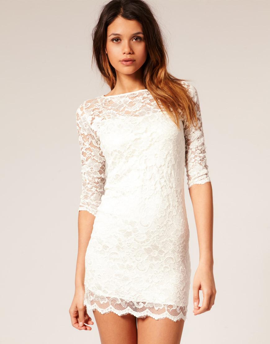 White floral satin ruched bardot bodycon dress