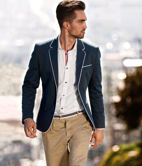 H&m Blazer in Blue For Men