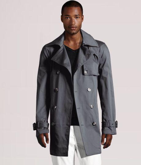 Men Grey H&m Trenchcoat