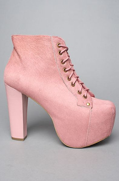 jeffrey campbell the lita shoe in pink pony hair in pink lyst. Black Bedroom Furniture Sets. Home Design Ideas