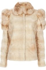 Liska Puff Sleeve Fur Jacket