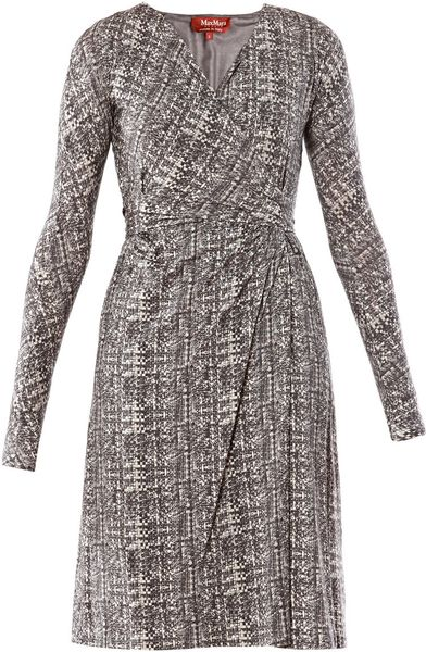 Max Mara Studio Long Sleeve Dress in Gray (grey)