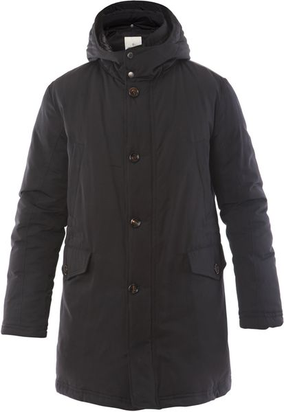 Moncler Givorse Coat in Blue for Men (navy)
