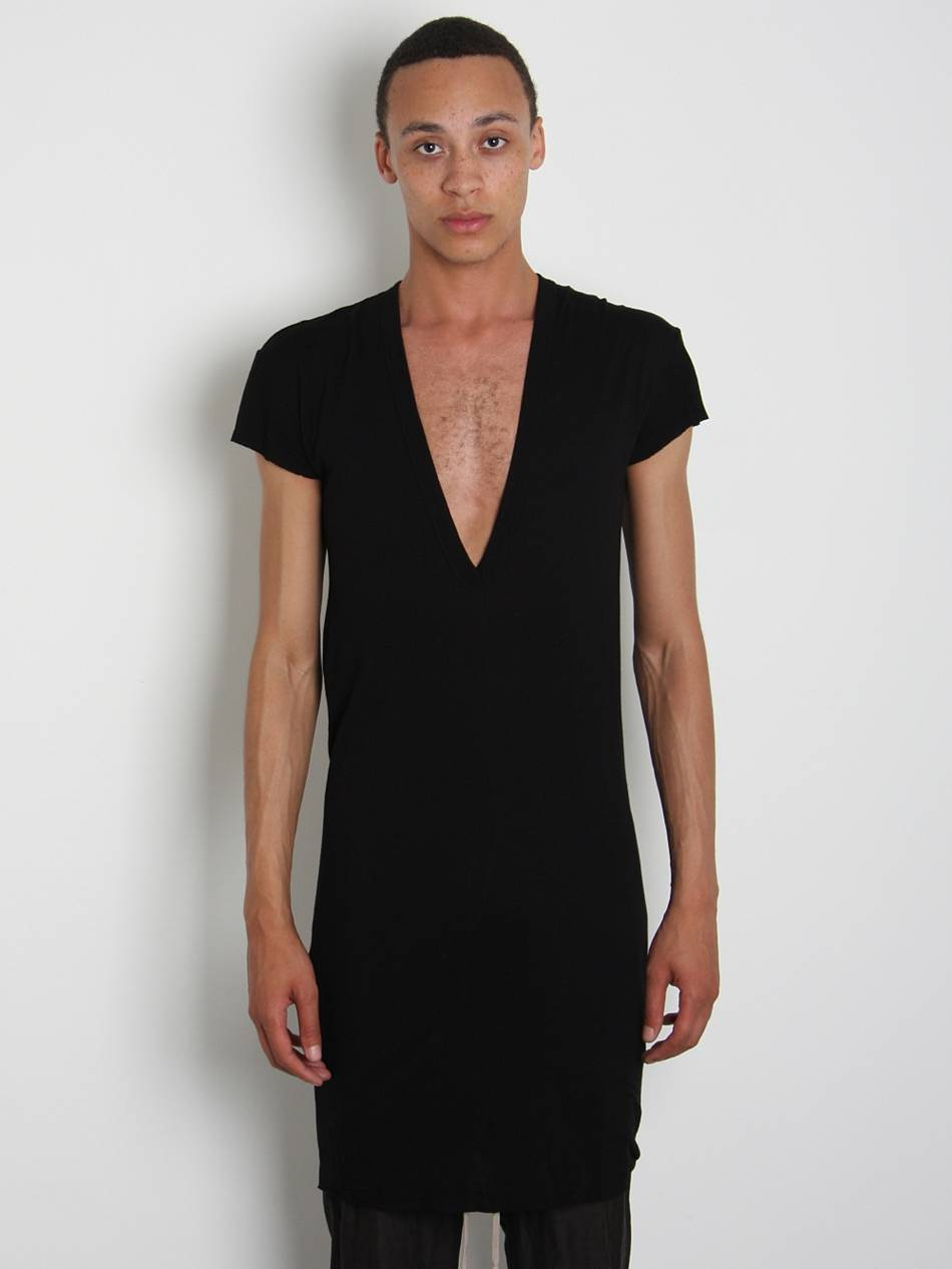 rick owens mens deep v neck t shirt in black for men lyst