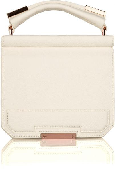 Alexander Wang Ryan Textured-leather Tote in White