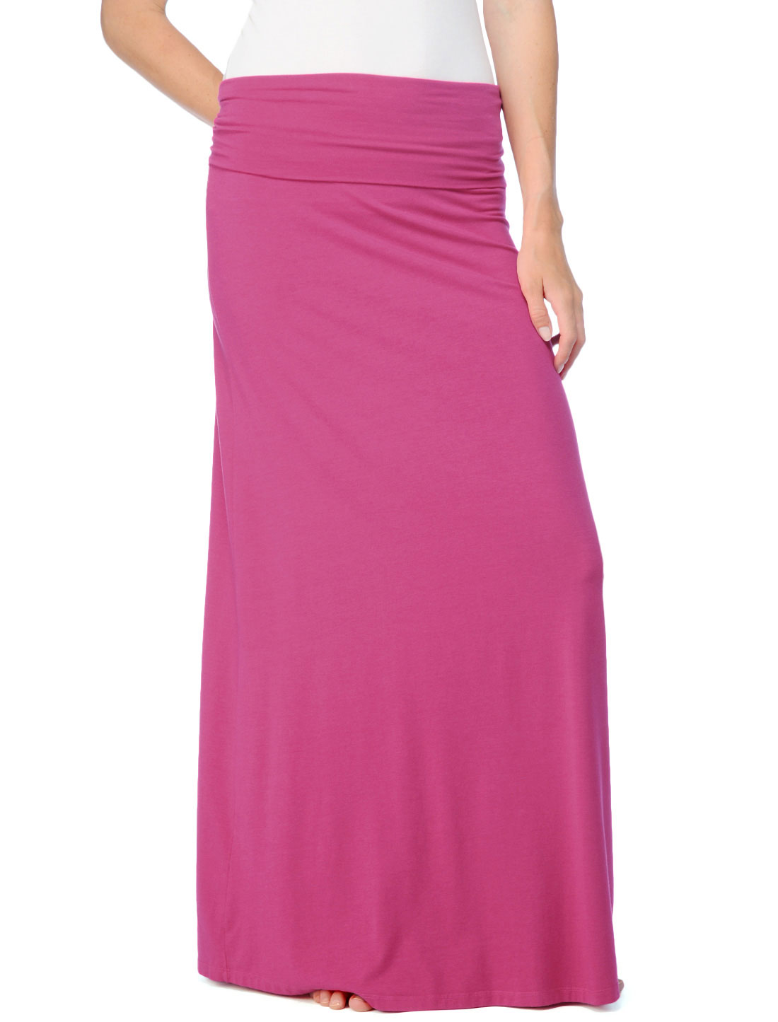 splendid modal lycra maxi skirt in pink fruit punch lyst