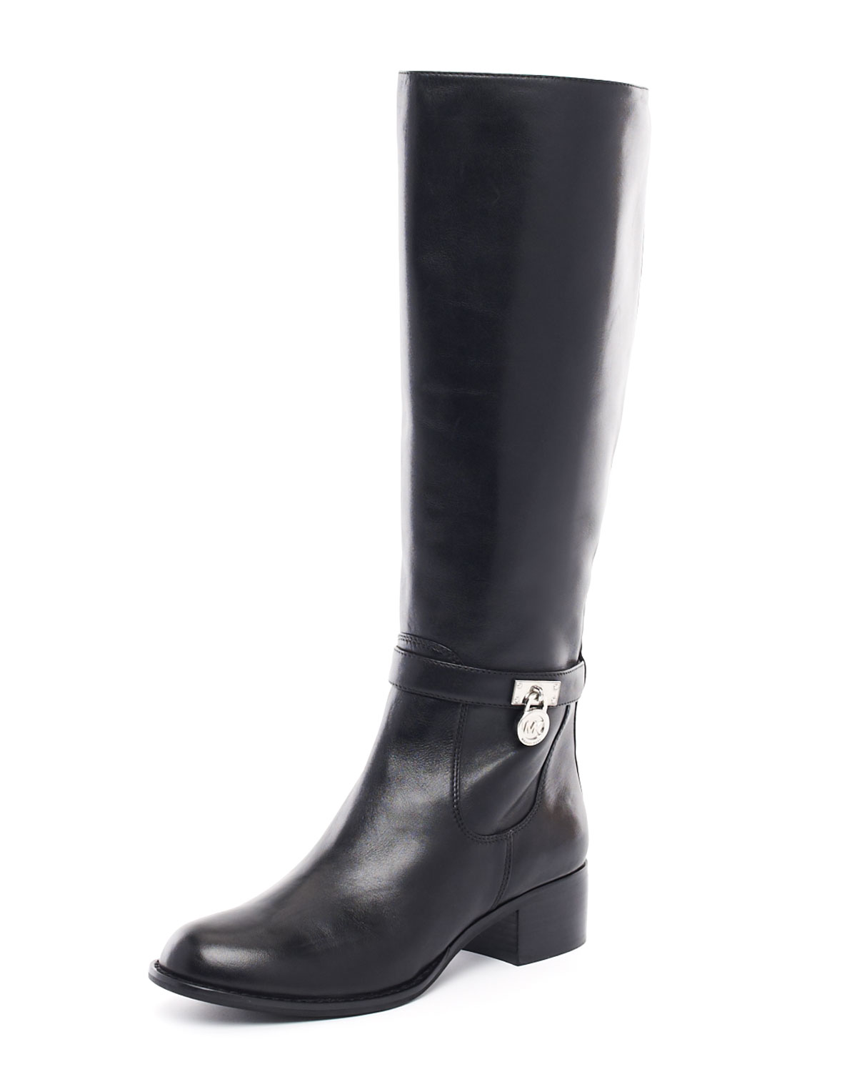 lyst michael kors hamilton riding boots in brown