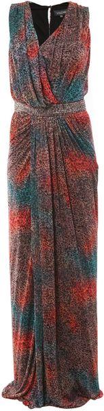 Saloni Sara Sandstorm Print Dress in Multicolor (multi)