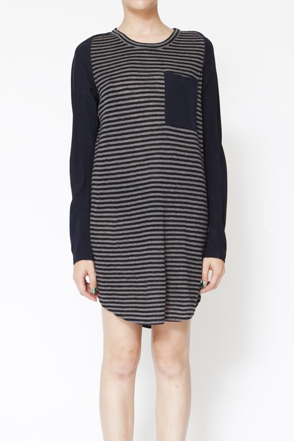 3 1 phillip lim long sleeve t shirt dress with silk for Long sleeve silk shirt dress