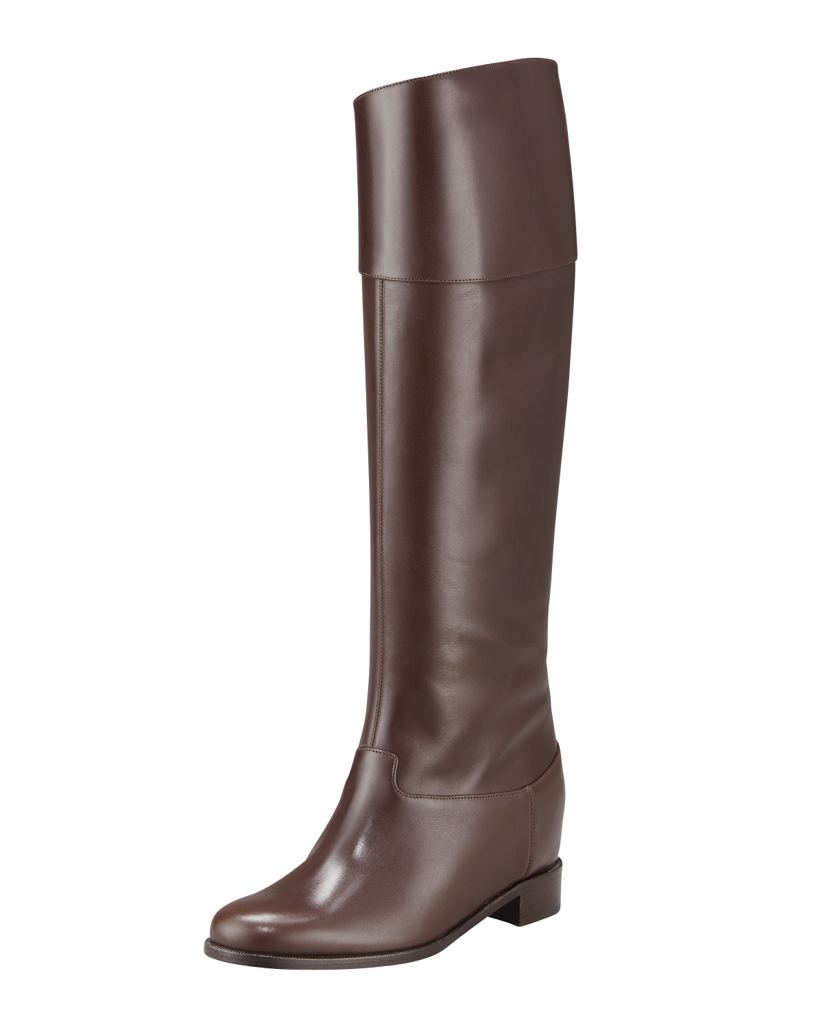 4e1ea73ead3 ... red sole hunter green suede and tan leather boots 4e3f4 00fe8  greece lyst  christian louboutin hidden wedge riding boot in black 7ddfa 883ad