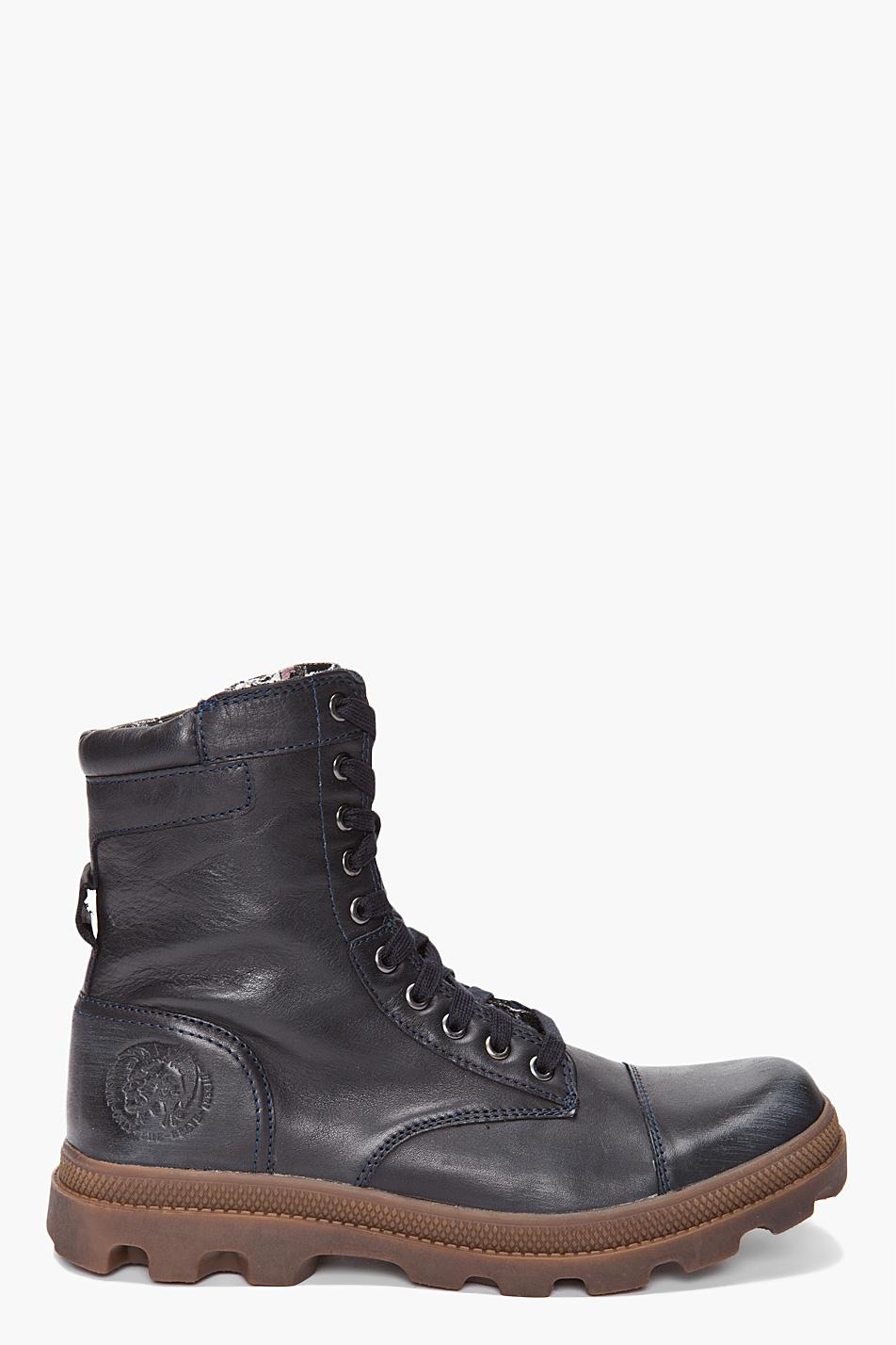 Diesel Butch Boots in Blue for Men (ebony) | Lyst