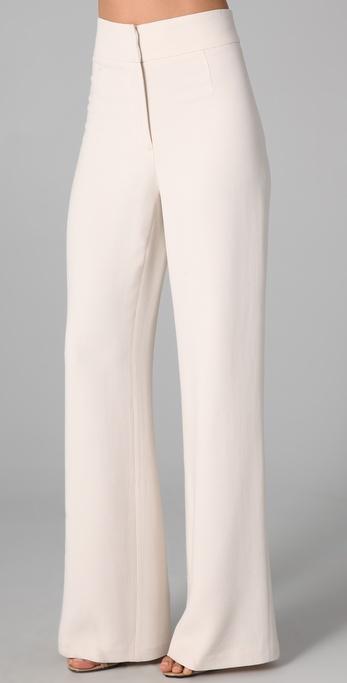 ivory wide leg pants - Pi Pants