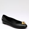 Alexander Mcqueen Skull Leather Ballet Flats in Black - Lyst