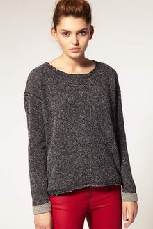 ASOS Collection Asos Oversized Textured Sweatshirt - Lyst