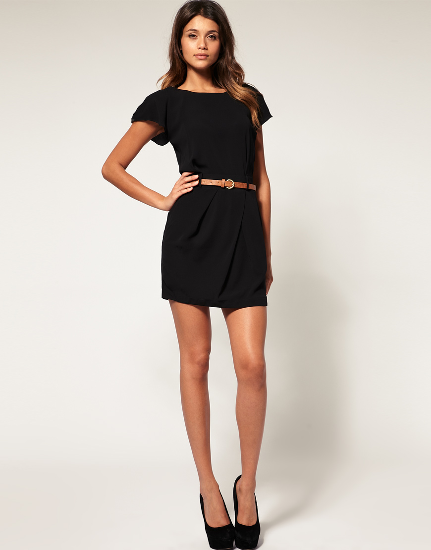 Lyst Asos Collection Asos Mini Tulip Dress With Flute