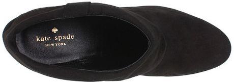 Kate Spade Bison - Black Suede Bootie in Brown (black) - Lyst