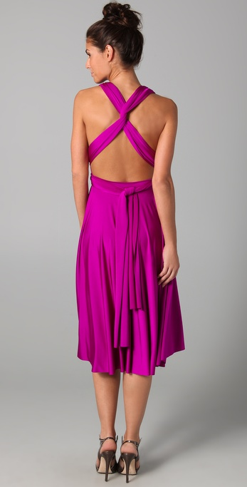 Twobirds Tea Length Convertible Dress In Purple Lyst