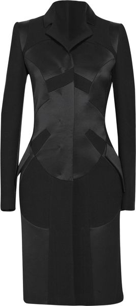 Antonio Berardi Paneled Wool-blend Coat in Black