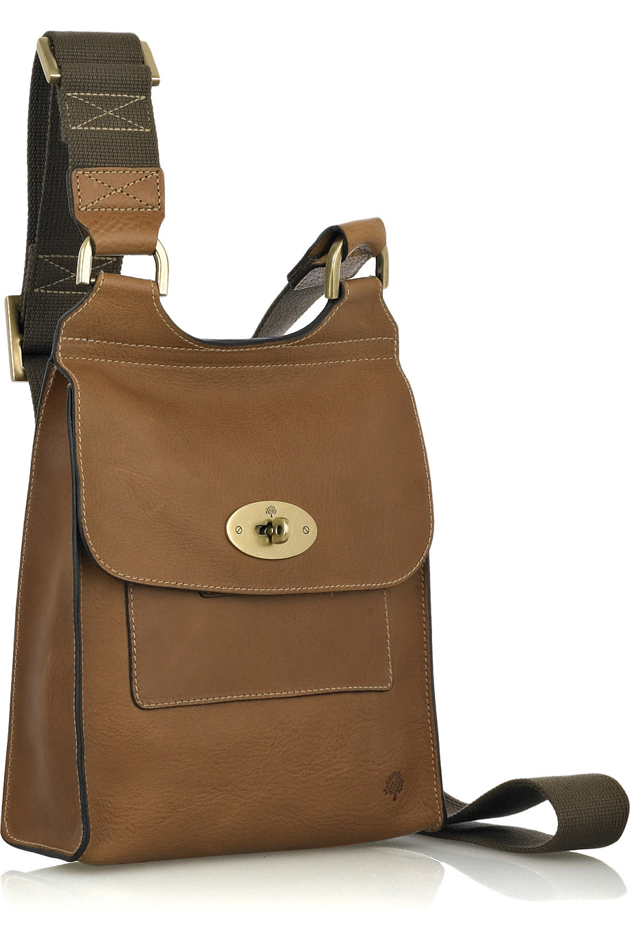 ... wholesale mulberry antony leather cross body bag in brown lyst 6199e  32b74 5608ca1066f62