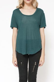 L'Agence Short-sleeve Oversize T in Emerald - Lyst