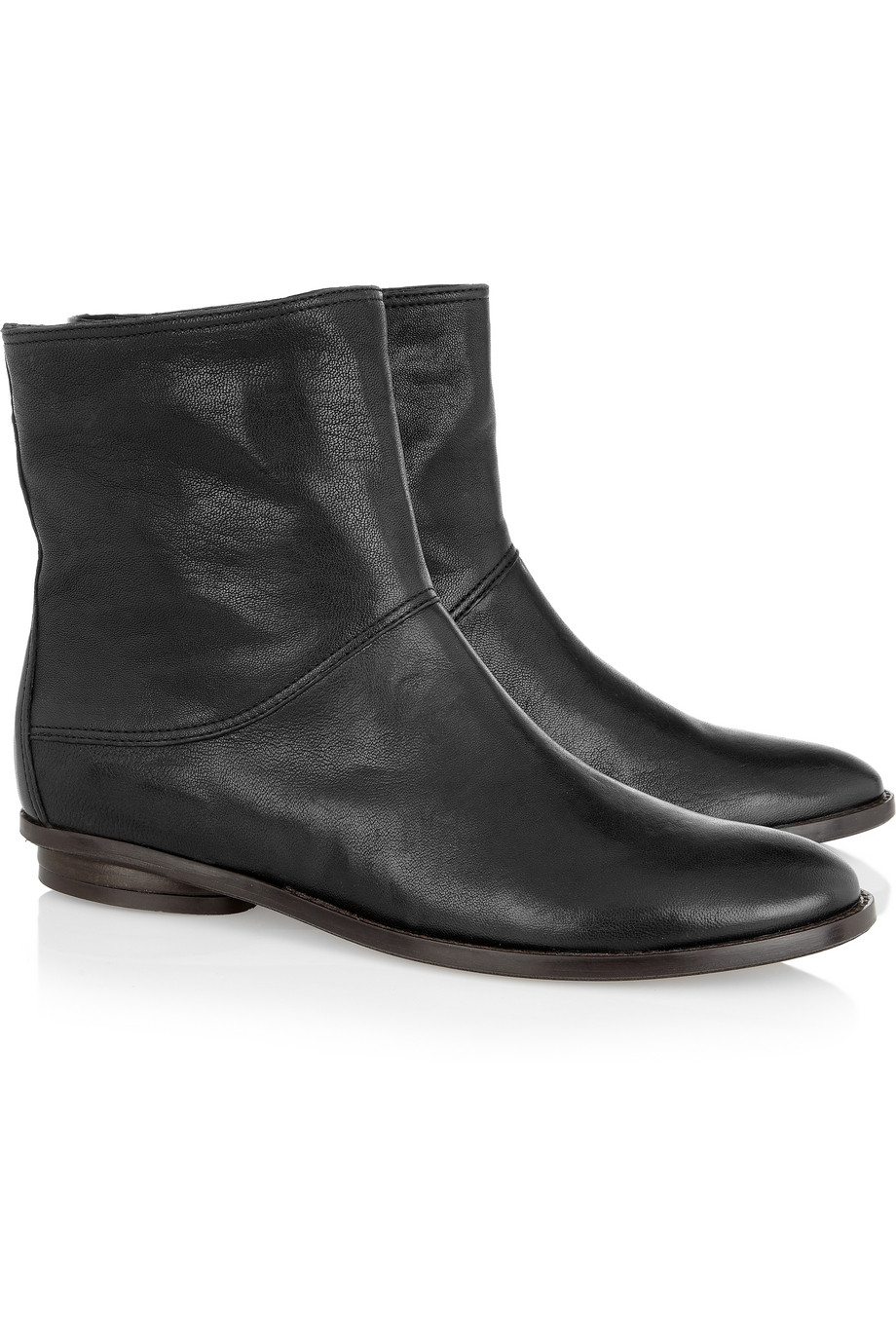 zero cornejo fela leather ankle boots in black lyst