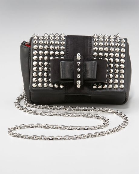 Christian Louboutin Sweet Charity Spike-studded Bag in Black - Lyst