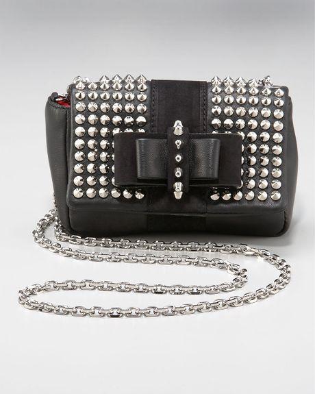 Christian Louboutin Sweet Charity Spike-studded Bag in Black