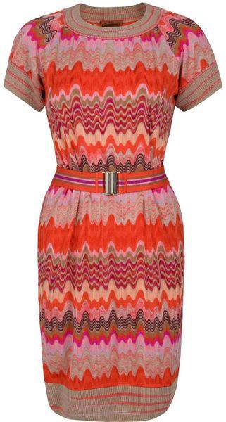 Missoni Fiamma Wave Print Dress in Multicolor