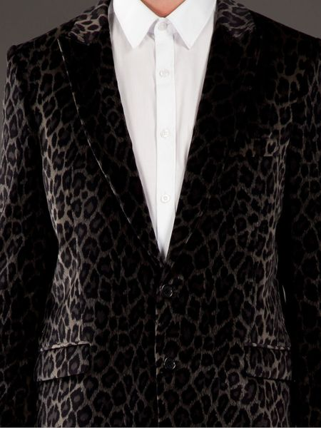 Paul Amp Joe Leopard Print Blazer In Animal For Men Leopard