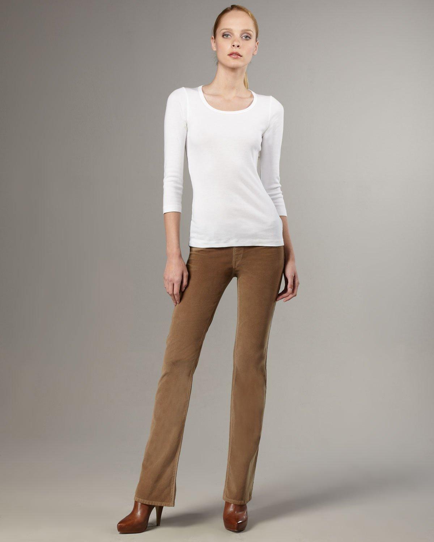 Sold denim Boot-cut Corduroy Pants, Tan in Brown | Lyst