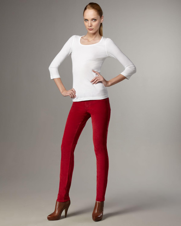 Sold denim Slim Corduroy Pants, Ruby in Red | Lyst