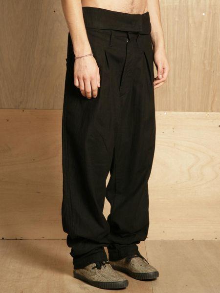 Yohji Yamamoto Mens High Waisted Pants In Black For Men Lyst