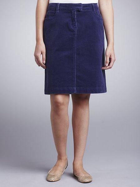 lewis corduroy skirt blue in blue lyst