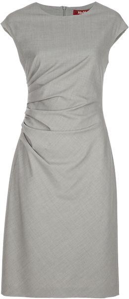 Max Mara Studio Short-sleeved Dress in Gray (grey)