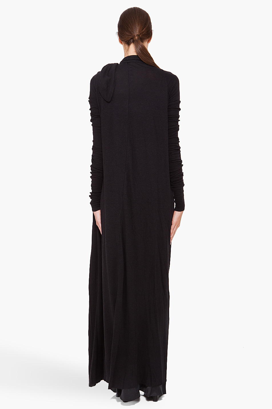Rick owens lilies Extra Long Cardigan in Black | Lyst
