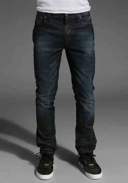 nudie jeans thin finn in blue for men nightster lyst. Black Bedroom Furniture Sets. Home Design Ideas