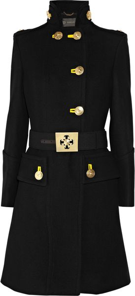Versace Military Wool Coat - Lyst
