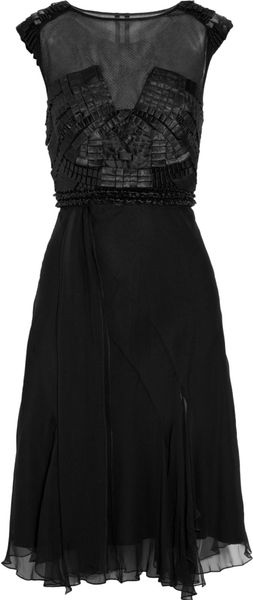 Alberta Ferretti Ribbon-embellished Silk-chiffon Dress - Lyst