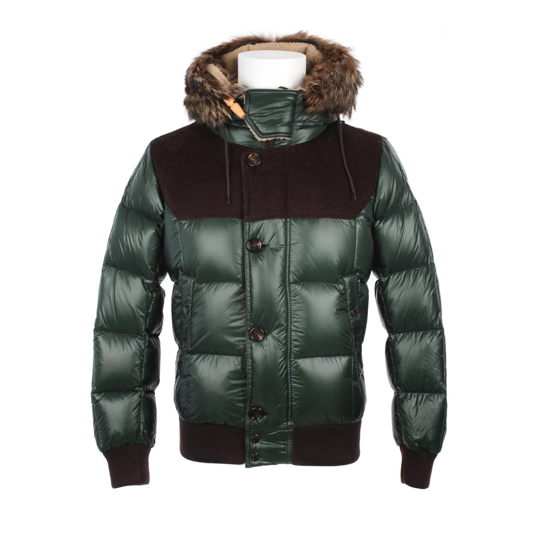 Moncler Green Polyamide Down Jacket in Green for Men