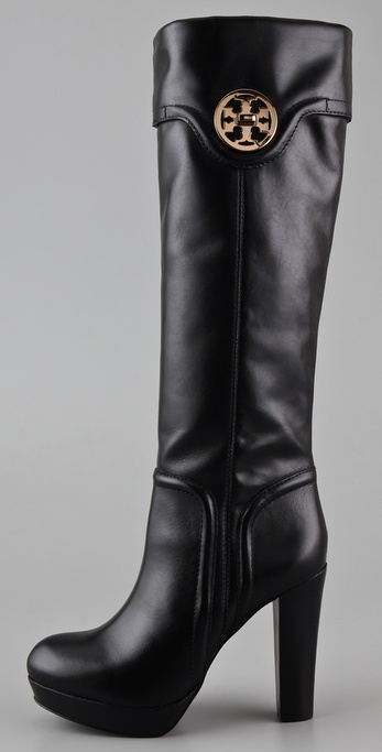 buy cheap cost cheap sale best sale Tory Burch Leather Platform Boots outlet clearance outlet low price rWstbnMoNp