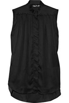 Theyskens' Theory Sleeveless Silk-satin Blouse - Lyst