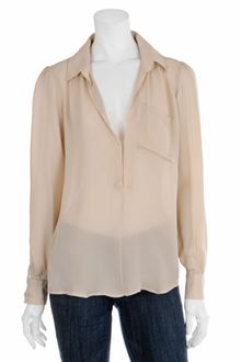 Haute Hippie Sheer V-neck Blouse - Lyst