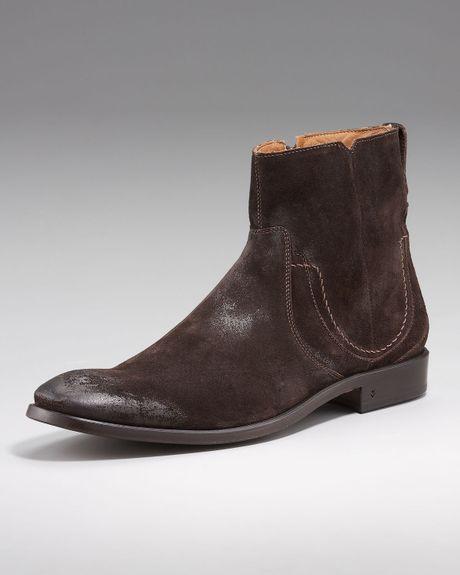 varvatos suede dress boot in brown espresso lyst