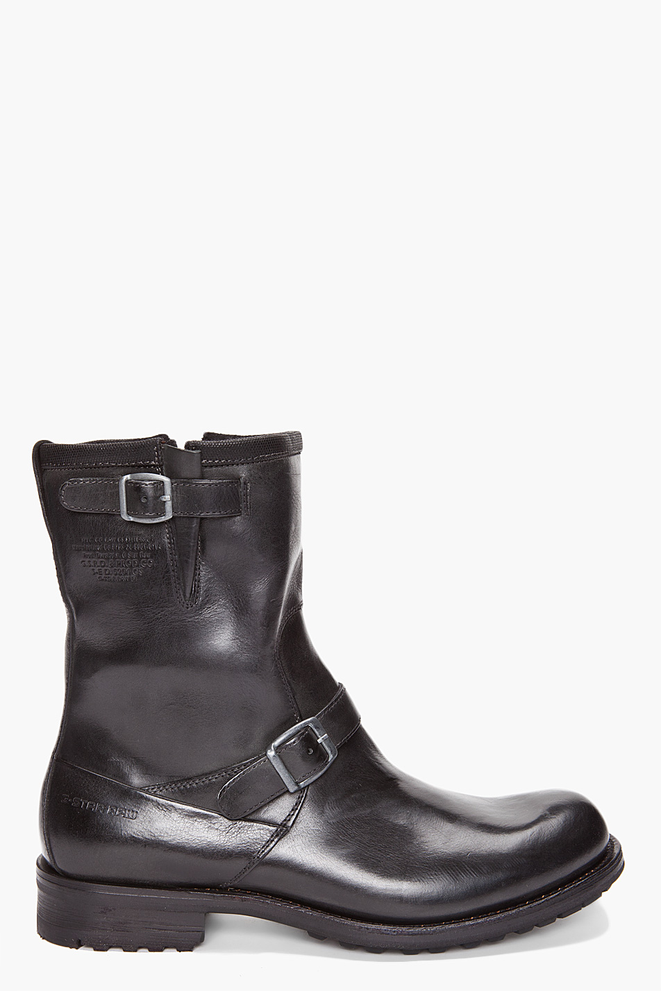 g star raw patton rigger boots in black for men lyst. Black Bedroom Furniture Sets. Home Design Ideas