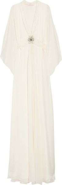 Matthew Williamson Silkchiffon Gown in White (ivory) - Lyst