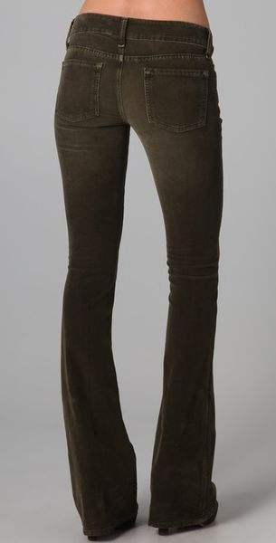Vince Flare Corduroy Pants In Brown Taupe Lyst