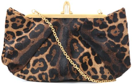 Christian Louboutin Loubiangle Clutch Bag in Animal (leopard) - Lyst