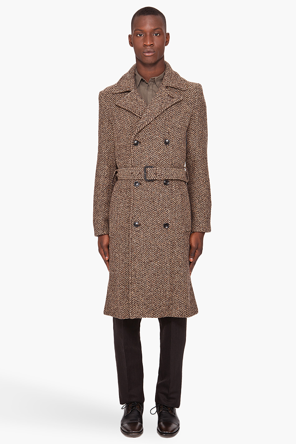 Lyst Marc By Marc Jacobs Avalon Herringbone Coat In